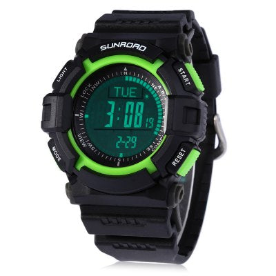 SUNROAD FR822A Multifunctional Digital Sports Watch Altimeter Barometer Thermometer Wristwatch with Date Day S......