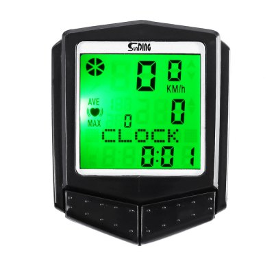 SunDing SD - 573C Outdoor Multifunctional Water Resistant LCD Backlight Cycling Odometer Speedometer Wireless ......