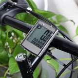 Water Resistant Wireless Cycle Computer Speedometer with LCD Backlight