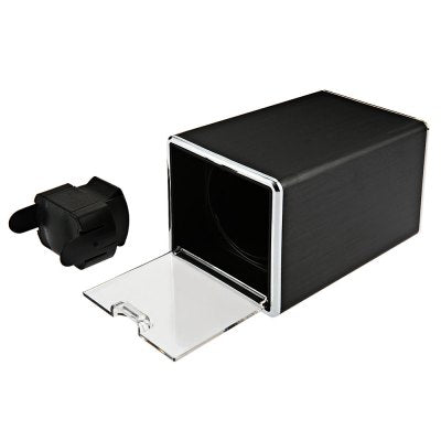 JA1301 Automatic Rotation Watch Winder Display Box Transparent Cover Jewelry Storage Organizer with US Plug