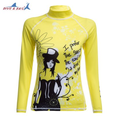 DIVE - SAIL LS - 641 Sun Protection Shirt Rashguard Swim Cloth with Long Sleeves