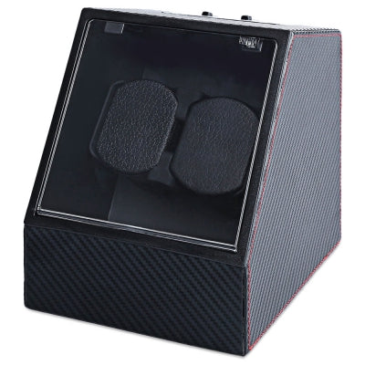 JA1621 Automatic Watch Winder Auto Silent Watch Winder  Irregular Shape Transparent Cover Wristwatch Box with ......