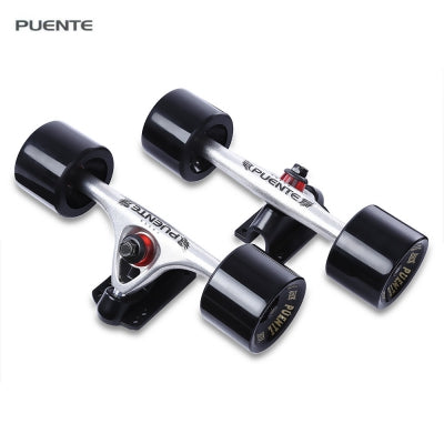 PUENTE 2pcs Universal Durable Magnesium Alloy 7 inch Skateboard Truck with Wheel