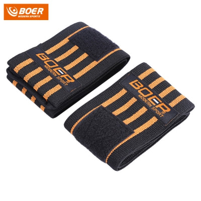 BOER Pair of Adjustable Sport Weight Lifting Strength Fitness Fitted Wrist Support Brace for Male Female