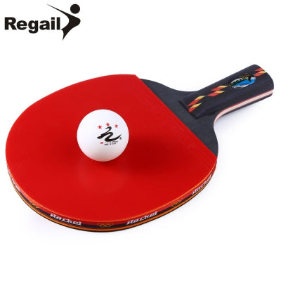 REGAIL D003 Table Tennis Ping Pong Racket One Penhold Bat Paddle Ball