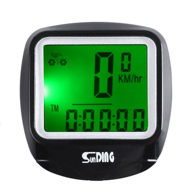 SunDing SD - 568AE Outdoor Multifunction Water Resistant Cycling Odometer Speedometer with LCD Backlight