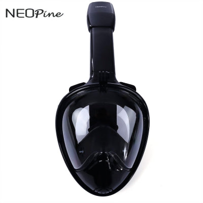 NEOpine Underwater Diving Dry Snorkeling Full Face Mask Set