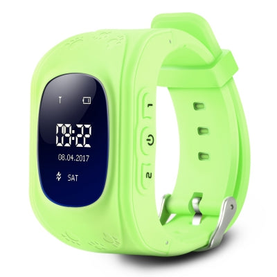 Q50 Children OLED Display GPS Intelligent Watch Telephone (GREEN)