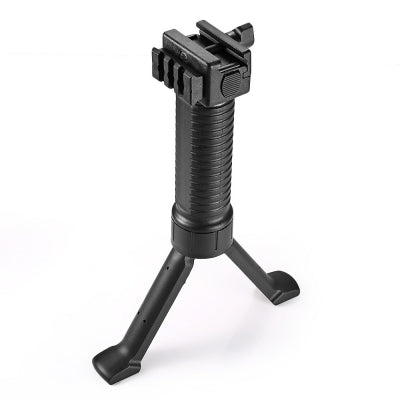 Foldable Vertical Retractable Bipod Fore Grip for Picatinny Weaver Rail Mount