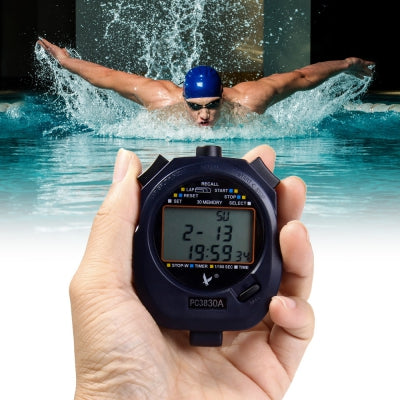 PC3830A Electronic Stopwatch Digital Running Timer Chronograph Counter Professional Sports Stop Watch