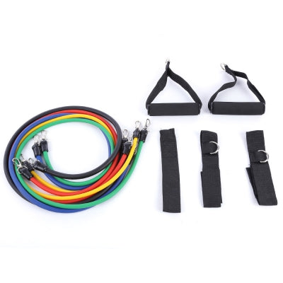 LEAJOY 11pcs / Set Natural Rubber Fitness Resistance Bands Practical Elastic Training Rope