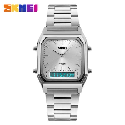 SKMEI 1220 Dual Time Display Fashion Unisex Watch with EL Backlight