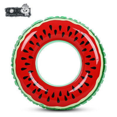 xiaribaobei Watermelon Inflatable Swimming Ring Pool Float
