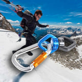 Rock Climbing Kit Rotational Rope Swivel Connector D-shaped Mountaineering Buckle