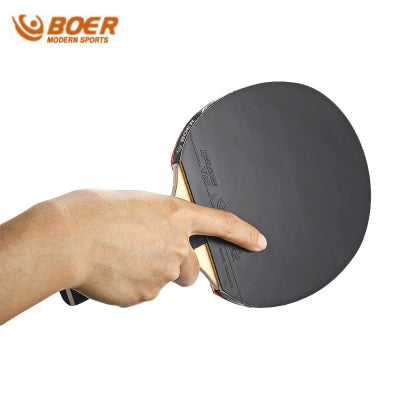 BOER S5 Table Tennis Rackets Pimples-in Rubber Bat for Fast Attack Type Player