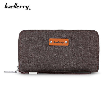 Baellerry Stylish Canvas Business Clutch Wallet for Men