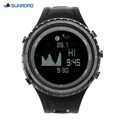 SUNROAD FR830 Digital Tide Sports Watch Altimeter Barometer Pedometer Stopwatch 5ATM Wristwatch