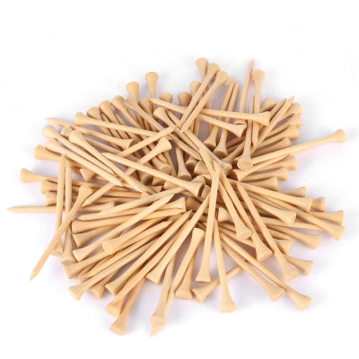 Dominant 100pcs 83MM Bamboo Wooden Golfing Tee