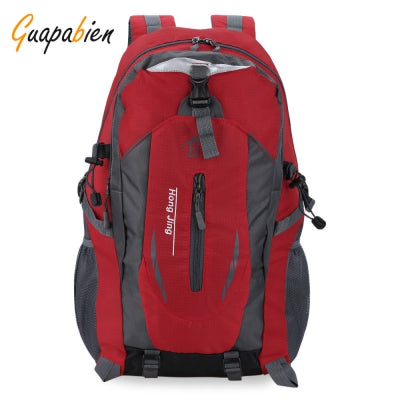 Guapabien Patchwork Buckle Ladder Lock Zipper S Shape Mesh Strap Outdoor Portable Backpack for Unisex