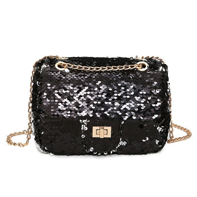Glitter Chain Crossbody Bag