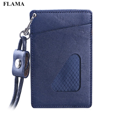 FLAMA Unisex Triangle Design PU Leather Card Cover Wallet