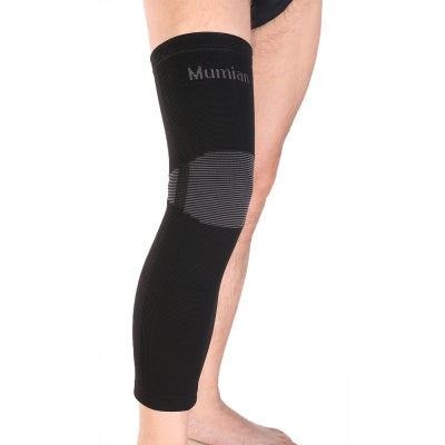 Mumian A06 Classic Black Color Knitting Keep Warm Sports Long Knee Sleeve Brace - 1PCS