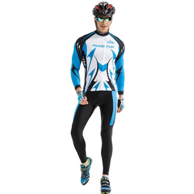 RIDING FUN Men Breathable Long Sleeve Cycling Suit