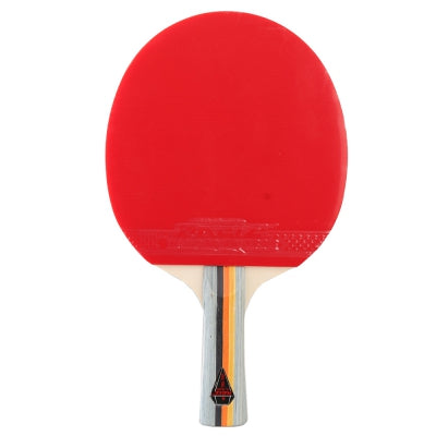 REIZ Short or Long Handle Shake-hand Ping Pong Paddle Table Tennis Racket with Case Red and Black 1 Star