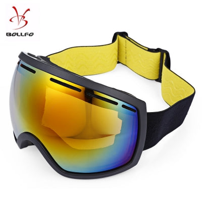 BOLLFO Wide Vision UV Protection Anti-fog Skiing Goggles