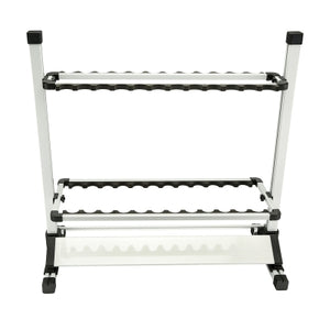 Aluminum Lightweight Adjustable Portable Fishing Rod Rack Holds 24 Rods