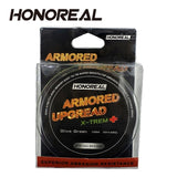 HONOREAL 0.203mm 150m Super Strong Abrasion Resistant Deep Gray and Olive Green Color 4 Strands PE Braided Fis......