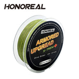 HONOREAL Super Strong Abrasion Resistent Long 0.148mm 150m Grey and Green Color 4 Strands PE Braided Fishing L......