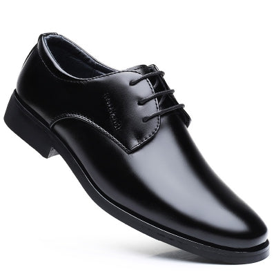 Men New Outdoor Walking Trend for Fashion Black Leather Business Wedding Shoes