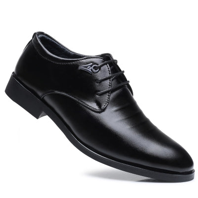 Men New Design Walking Trend for Fashion Business Outdoor Leather Black Wedding Shoes