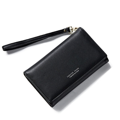 Fashion Women Long Clutch Wallet Ladies Pu Zip Female Card Holder Coin Purse