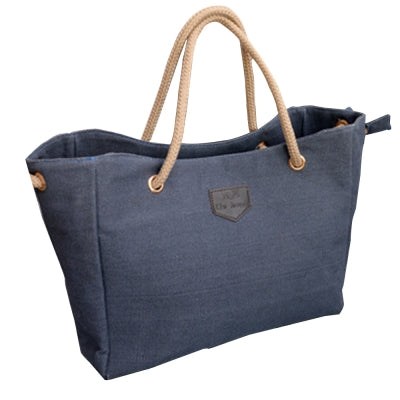 Women's Shoulder Trendy Solid Canvas Brief Style Bag