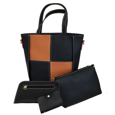 Women's Handbag Color Block All Match Stylish Versatile Bags Set
