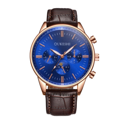 OUKESHI New Style Fashion Quartz Leather Watch