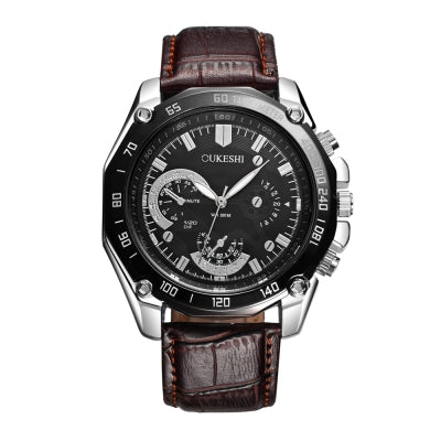 OUKESHI New Style Men Casual Quartz Stainless Steel Watch