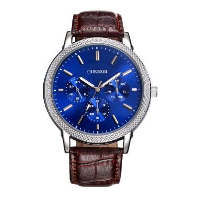 OUKESHI New Style Fashion Men Quartz Business Watch