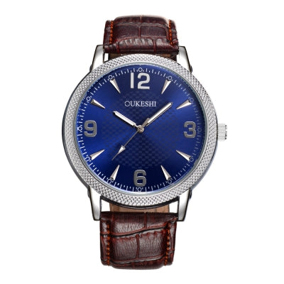 OUKESHI New Style Fashion Men Leather Wristwatch