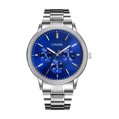 OUKESHI Simple Style Fashion Men Quartz Stainless Steel Watch
