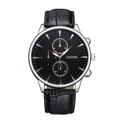 OUKESHI Luxury Men Business Leather Wristwatches