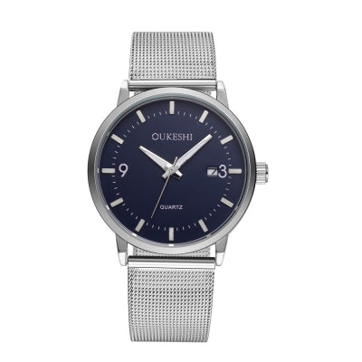 OUKESHI New Style Fashion Men Quartz Stainless Steel Watch