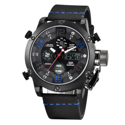 BIDEN Watches Men Analog Quartz Digital Watch Waterproof Sports Watches for Men Silicone LED Electronic Watch