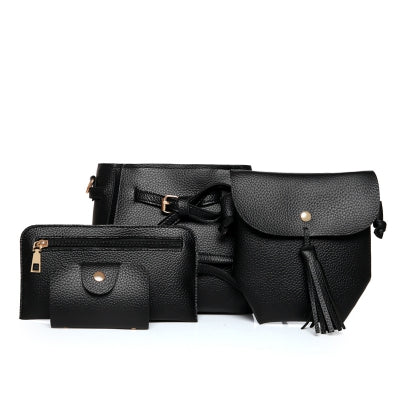 4 Times Fashion Litchi Grain Belt Female Package Bags