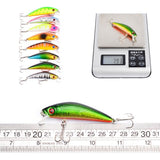 Proberos DWMI009 60-piece Set ABS Plastic Classic Fishing Lures Hard Bait