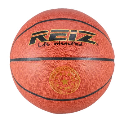 Reiz 902 Outdoor Basketball Pu Leather 6 Non-Slip Wear-Resistant Ball Basquete with Free Gift Net Needle