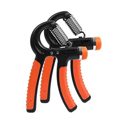 2 Pcs Hand Grip Strengthener Strength Trainer Adjustable Resistance Hand Exerciser