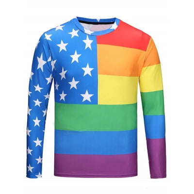 Crew Neck Star Rainbow Tee